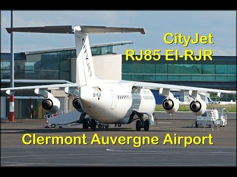 Cityjet ARj85 EI-RJR Slovakia Football Team Euro2016 at Clermont Airport