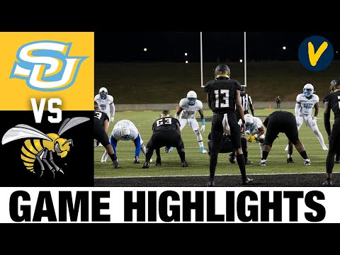 Southern vs Alabama State Highlights  2021 Spring College Football Highlights