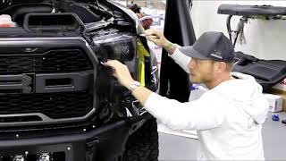 Worlds EASIEST Light Tint | Ford Raptor Headlight TINT