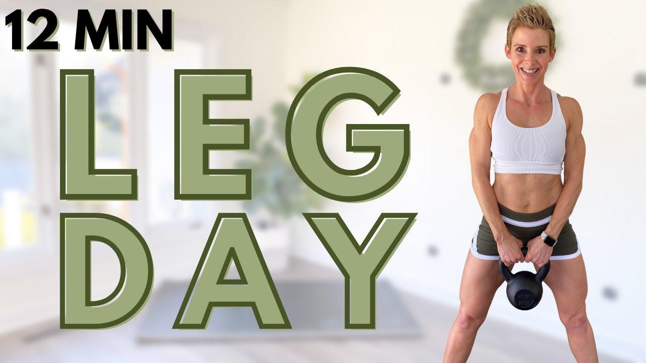 LEG DAY NEW TODAY!!! At Home LEGS Workout for Women | 12 Min Kettlebell LEG Workout