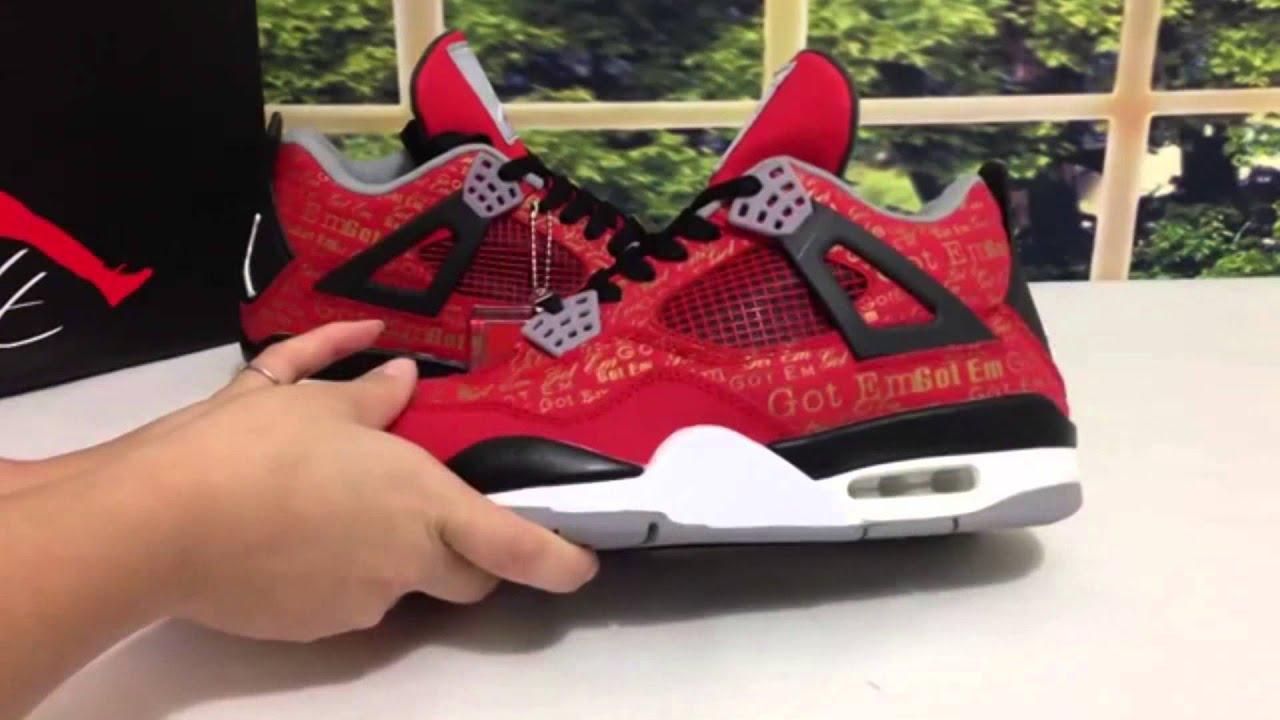 Air Jordan 4 Got Em Laser,Cheap Jordan Shoes on Sale - YouTube
