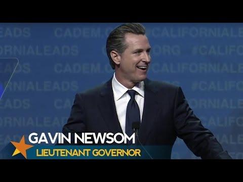 Lt. Governor Gavin Newsom CADEM 2017 Convention