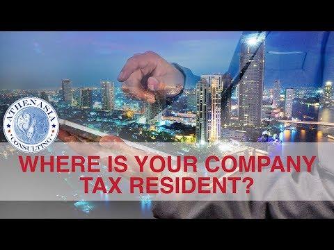 Company Tax Residency