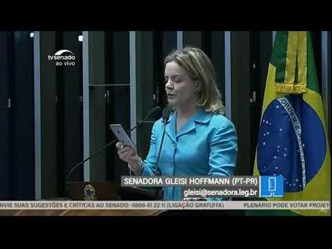 Gleisi reafirma ataques às instituições no Senado e acusa senadora de xenofobia