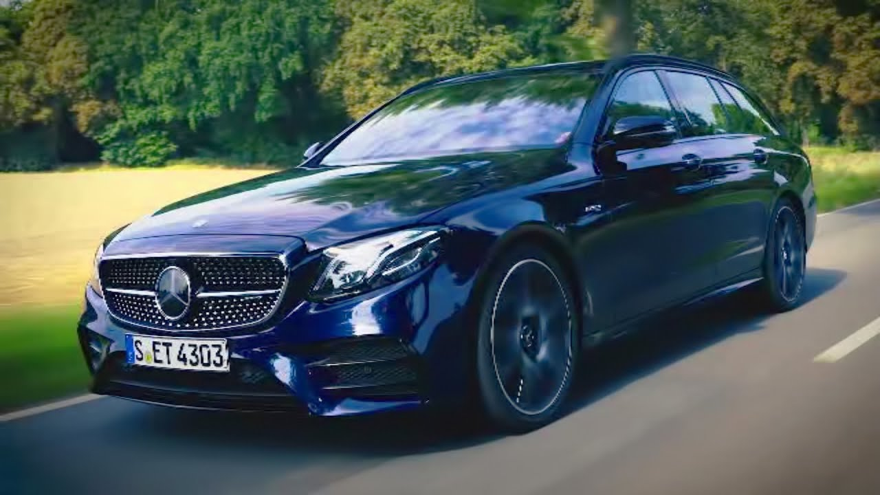 Mercedes AMG E 43 4matic Estate cavansite blue #mercedesamge43 - YouTube