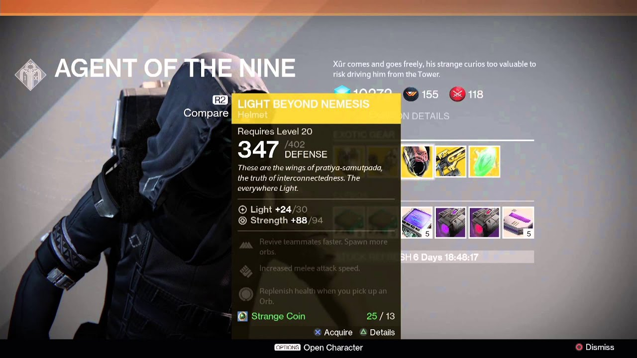 Destiny Xur Location and Items for 12/5/14