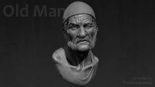 Old Man Sculpt - Making of - by Thaddeus Maharaj