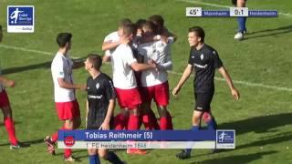 A-Junioren - SV Waldhof Mannheim vs. 1. FC Heidenheim 1846 0:1 - Tobias Reithmeir