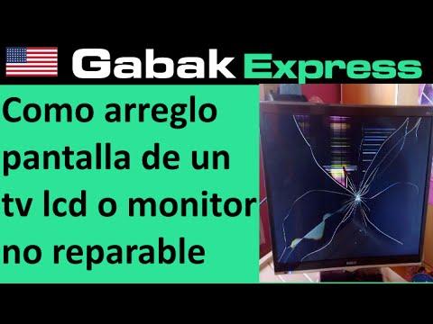Como Arreglo Pantalla Rota De Un Tv Lcd O Monitor Y Que Hacer Si No Tiene Reparacion Youtube