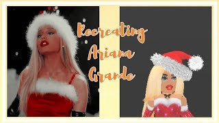RECREATING ARIANA GRANDE'S PICTURES IN ROBLOX