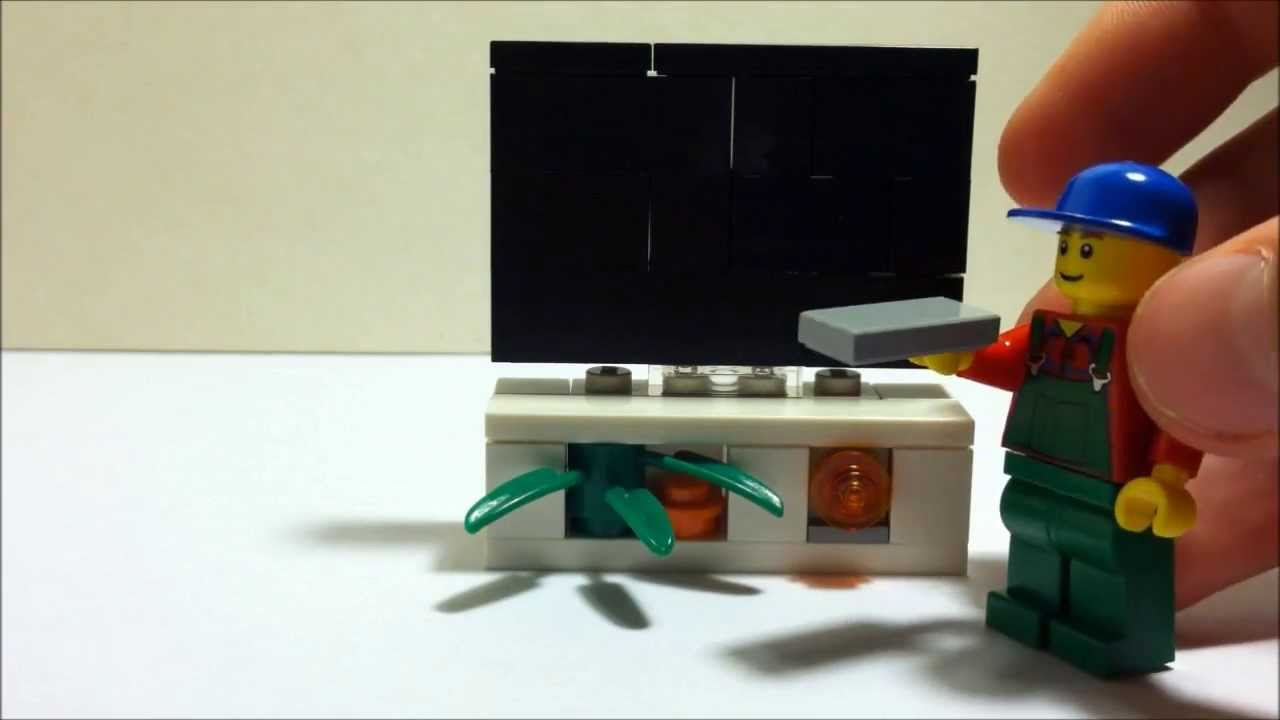 how to make a lego tv set youtube. Black Bedroom Furniture Sets. Home Design Ideas