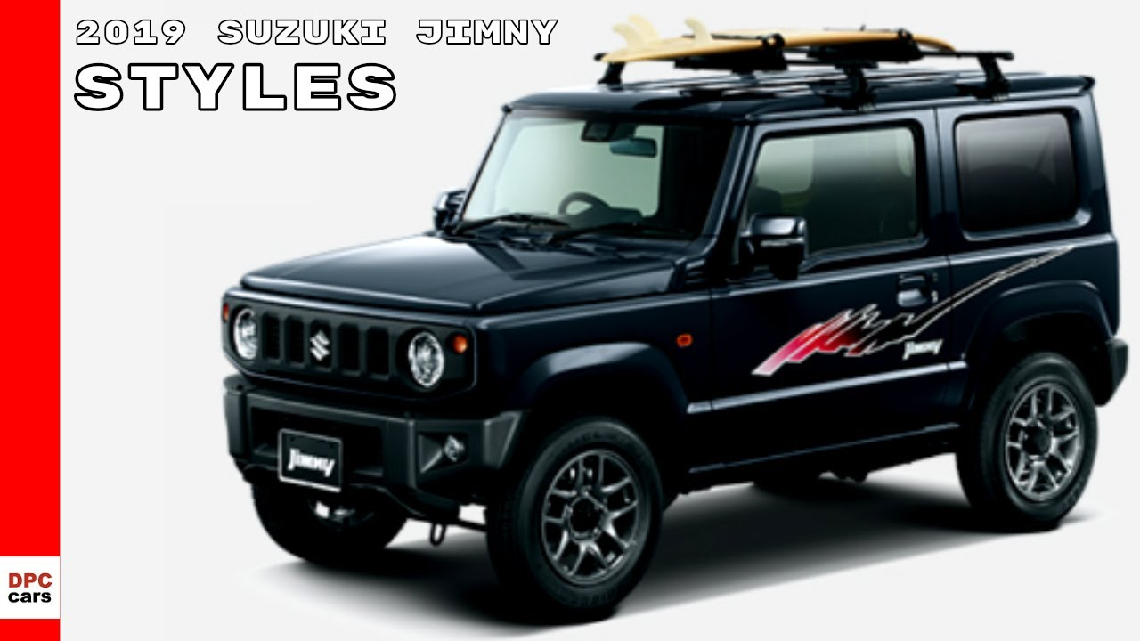 2019 suzuki jimny model range styles youtube