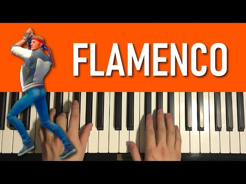 HOW TO PLAY - FORTNITE Dance - Flamenco (Piano Tutorial Lesson)