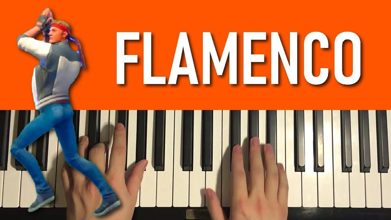 HOW TO PLAY - FORTNITE Dance - Flamenco (Piano Tutorial ...