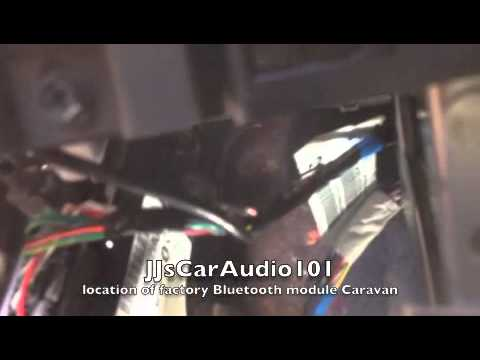how to location of factory Bluetooth module 2014 Dodge Caravan  YouTube