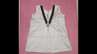 One year baby simple Frock Cutting and Stitching in Hindi Part -2