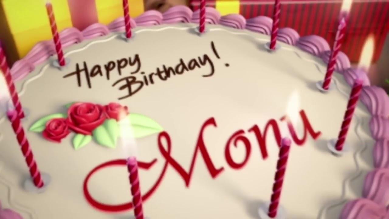 happy birthday monu name