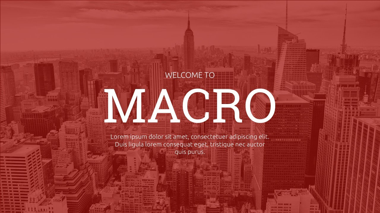 macro - multipurpose powerpoint template - youtube, Presentation templates