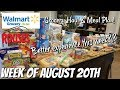 GROCERY HAUL & MEAL PLAN | WALMART | FAMILY OF 4 | 8/20/18