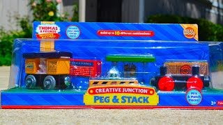 Thomas And Friends 2014 Creative Junction Peg & Stack Wooden Railway Toy Train Review By Mattel