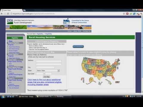 USDA Loan Eligibility Map Lookup