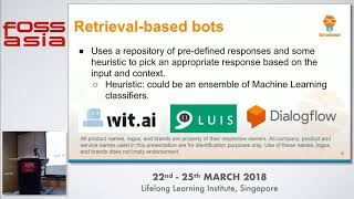 Going beyond rule-based chatbots - Yeo Wee Kiang  - FOSSASIA 2018