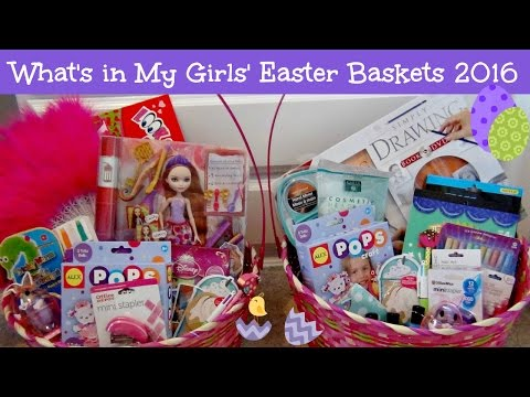 What's in My Girls' Easter Baskets 2016 | Watch Me Fill Them