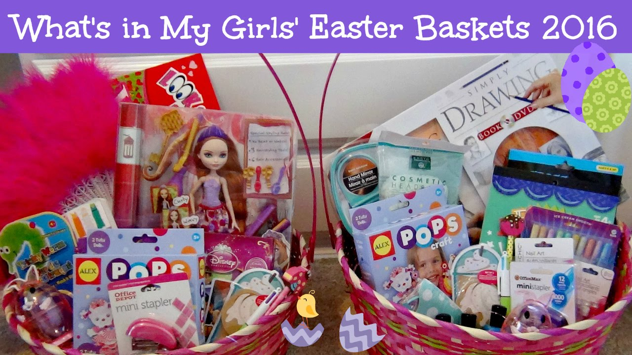 Whats in my girls easter baskets 2016 watch me fill them youtube negle