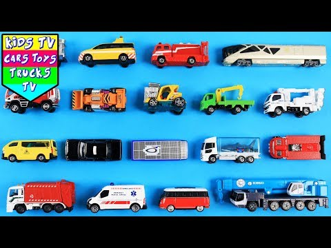 Learning Emergency Vehicles For Kids | Ambulance Trailer Truck Fire Engine Tow Truck Animal Truck