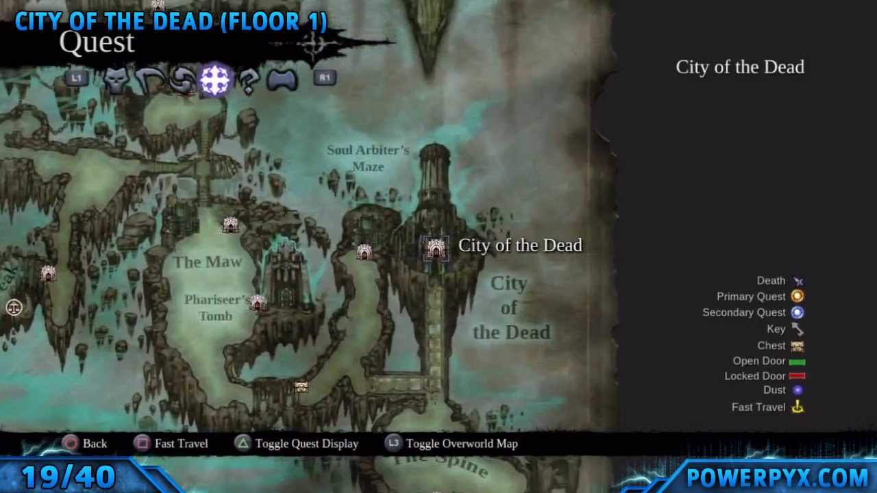 darksiders 2 book of the dead locations