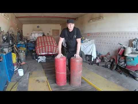 Супер гриль+смокер+мангал из газовых баллонов. Своими руками. Часть 1 /GRILL+SMOKER HAND MADE