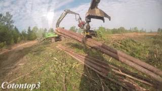 John Deere 2154D track loader shovel logging