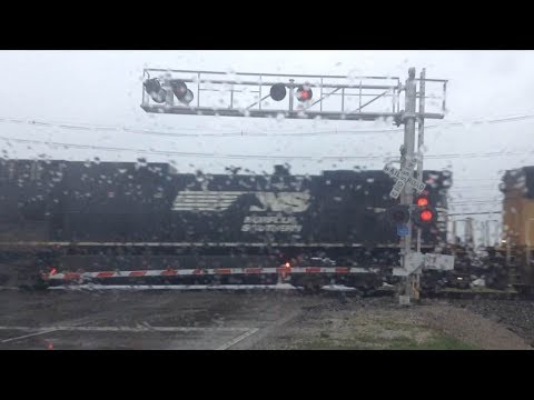 NS #9836 Leads Freight Train in Richwood KY