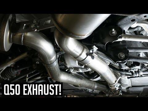 Infiniti Q50 3.0T MBRP Exhaust Install DIY!