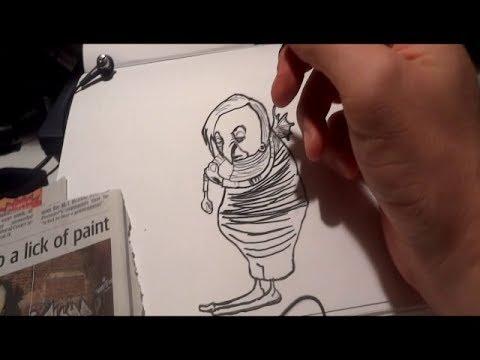 ASMR Binuaral Recording: Drawing Street Art (Whisper/ Fine Liner Sounds)