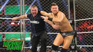 The Miz prevents Shane McMahon from escaping their Steel Cage Match...