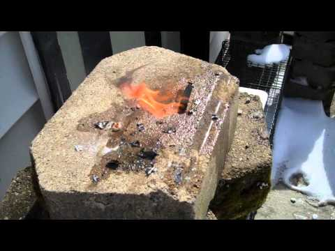 Fine Brass Burned In A Furnace