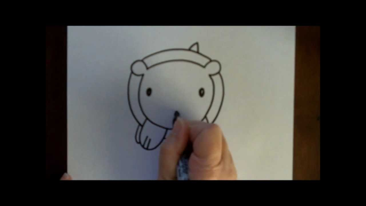 How To Draw A Bear Baby Cartoon Simple Drawing Tutorial For Kids