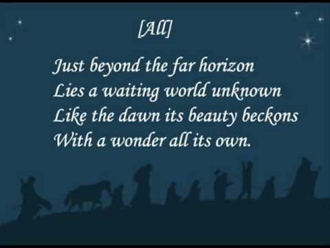 Lotr - The Road goes on. Lyrics