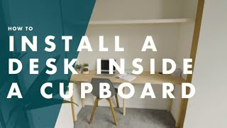 How To Build A Desk In A Closet