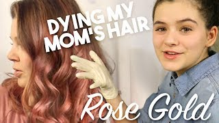 Coloring My Mom's Hair Rose Gold! Using Overtone DIY Rose Gold Pigmented Conditioner