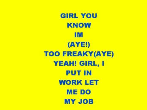 too freaky-chris brown with lyrics