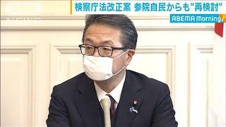 """検察庁法改正案 参院自民からも""""再検討""""(20/05/20)"""