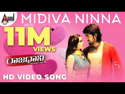Raajadhani | Midiva Ninna | Yash | Kannada Full Song | Sonu Nigam | Shreya Ghoshal |  Arjun Janya