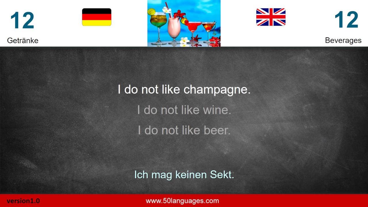 50 Languages Deutsch Englisch für Anfänger Lektion 012 - YouTube