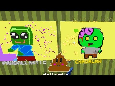 Minecraft / Pixel Painters / Kawaii Zombie Poop / Dollastic Plays