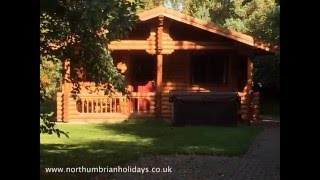 Acorn Log Cabin, with hot tub in Northumberland