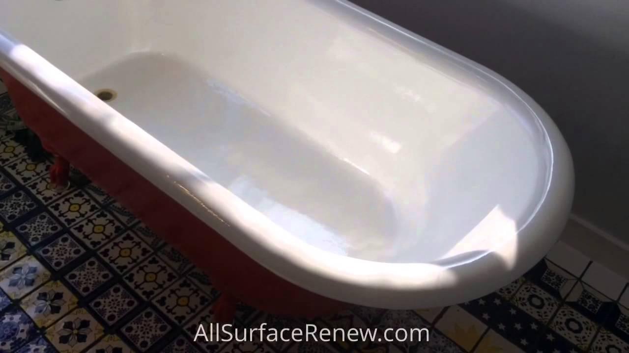 Claw foot Tub Refinishing - YouTube