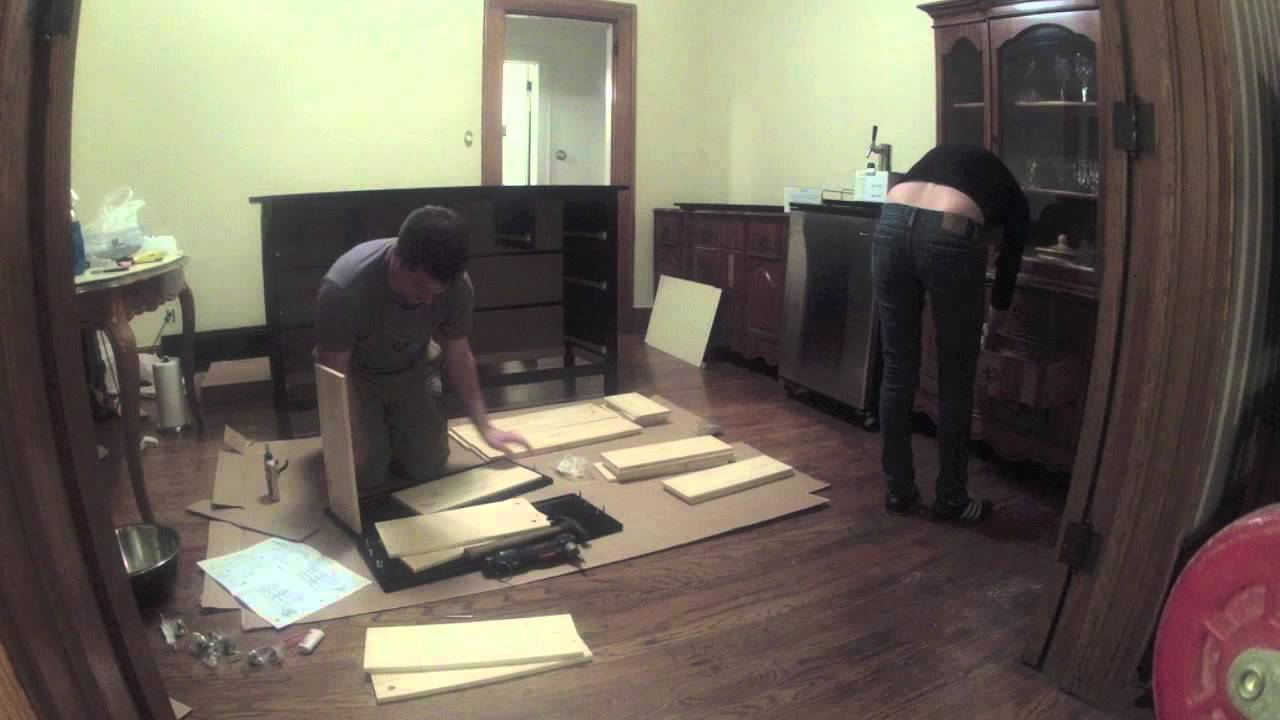 Ikea hemnes dresser assembled in 60 seconds youtube for What time does ikea close