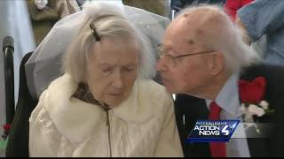 Couples married 50 years renew vows on Valentine's Day at Mt. Lebanon senior living center